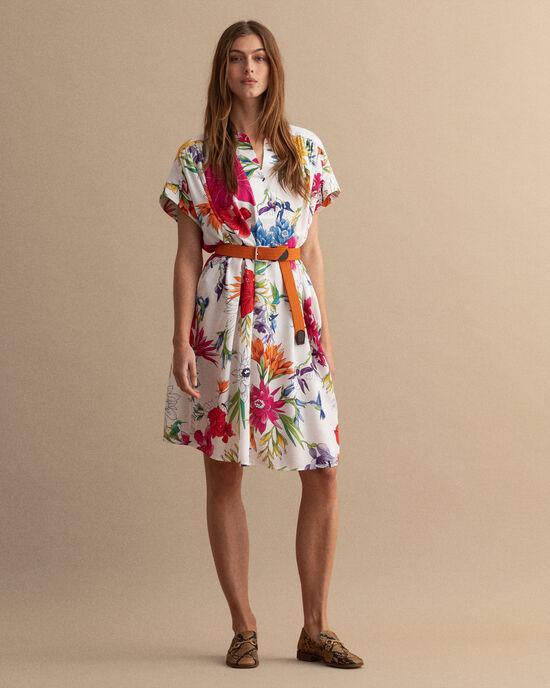 Humming Floral Schlupfkleid mit Print
