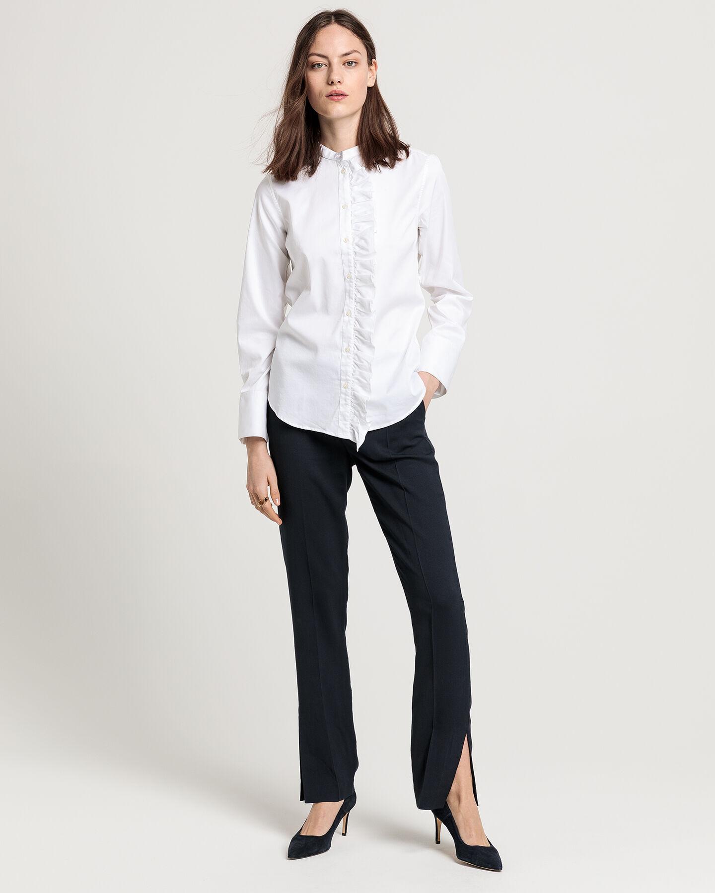 Tech Prep™ Ruffle Tuxedo Shirt