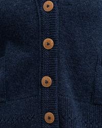 Verzierte Woll Strickjacke