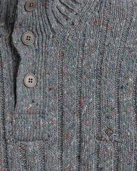 Stehkragen-Pullover mit Noppenstruktur und Knöpfen