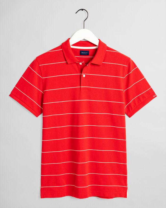 Piqué Poloshirt mit schmalen Streifen