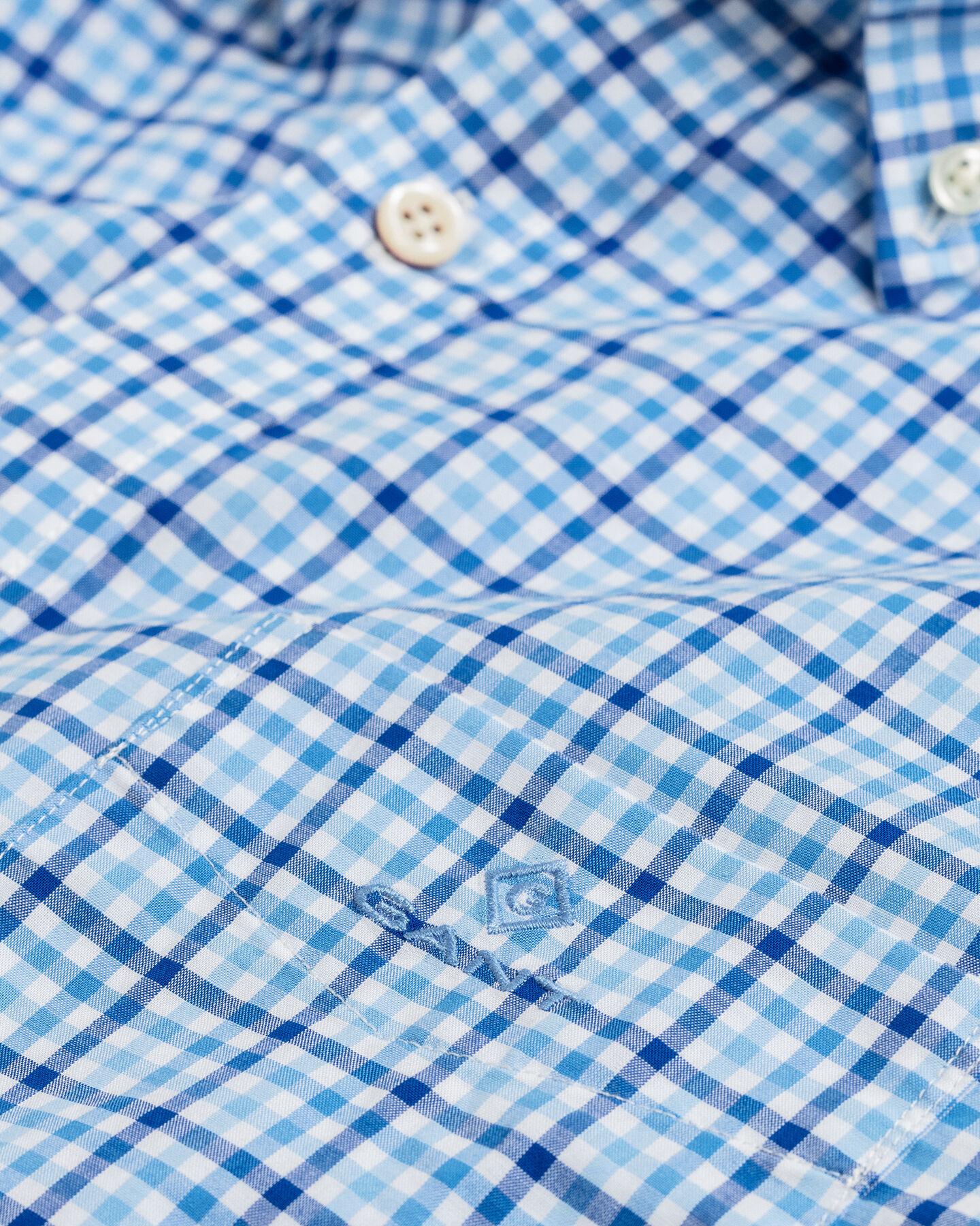 Regular Fit Broadcloth Kurzarm Hemd mit Vichy-Karo in 3Farben