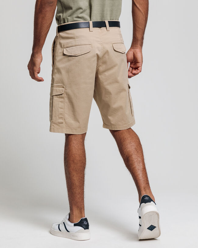 Relaxed Fit Twill Utility Shorts