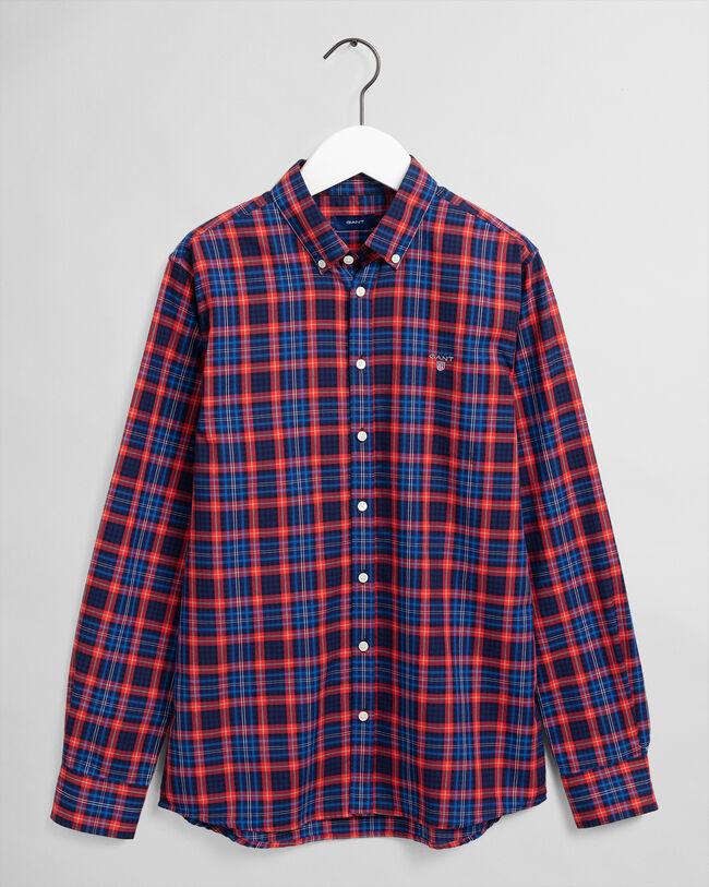 Teen Boys Hemd mit Mini-Tartan-Muster