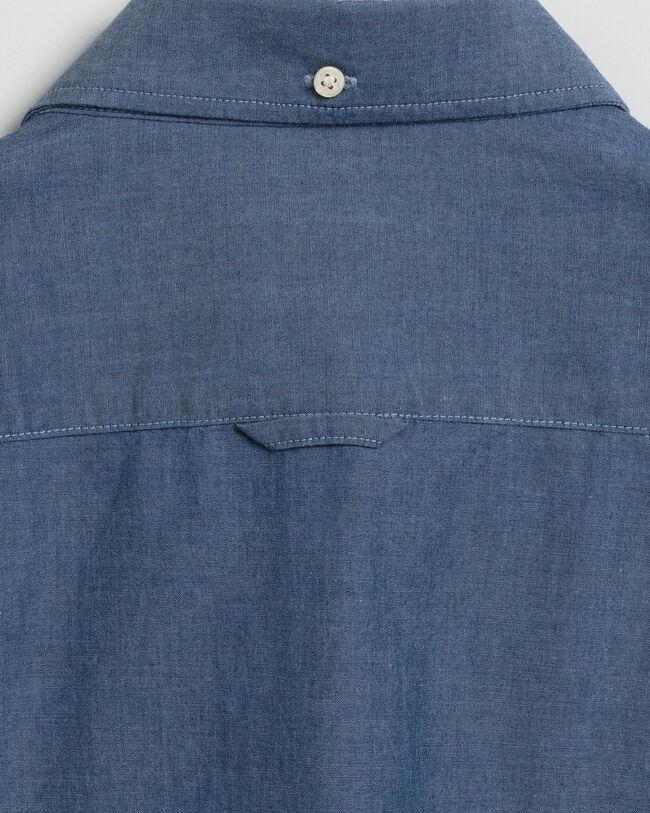 Tech Prep™ Slim Fit Hemd in Indigoblau