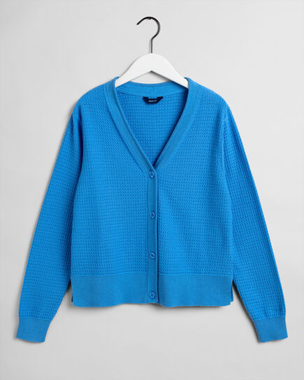 Textured Strickjacke