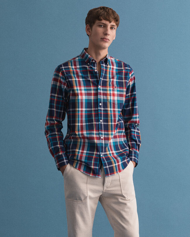 Tech Prep™ Regular Fit Tartan Oxford-Hemd