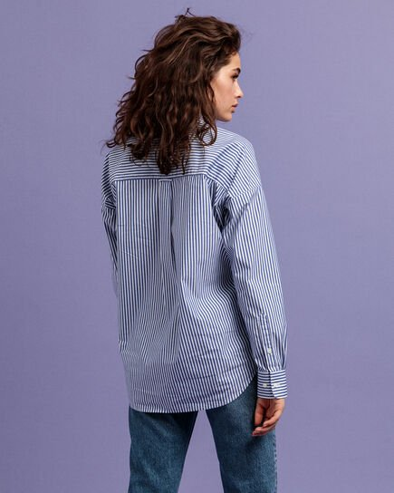 Tech Prep™ Oversized Broadcloth Bluse