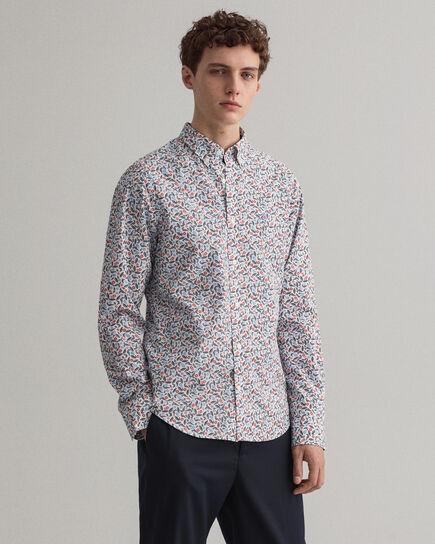 Leaf Slim Fit Hemd mit Print