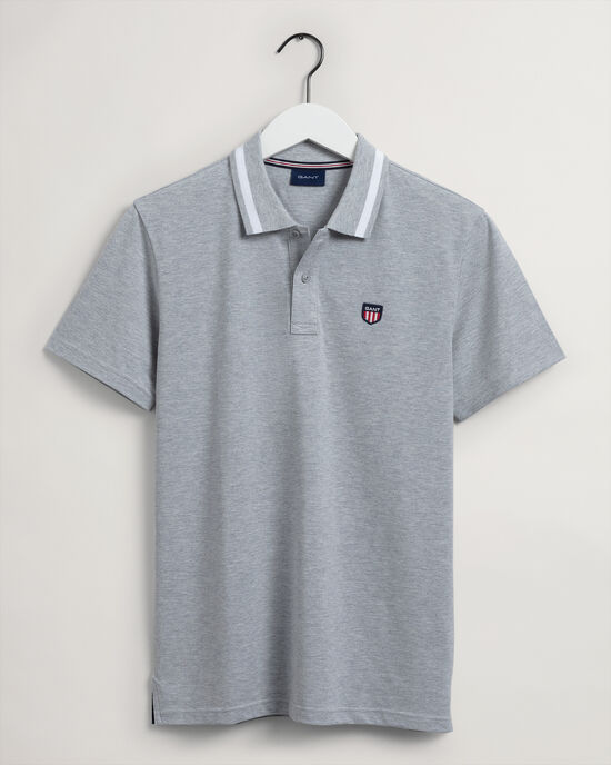 Retro Shield Piqué Poloshirt