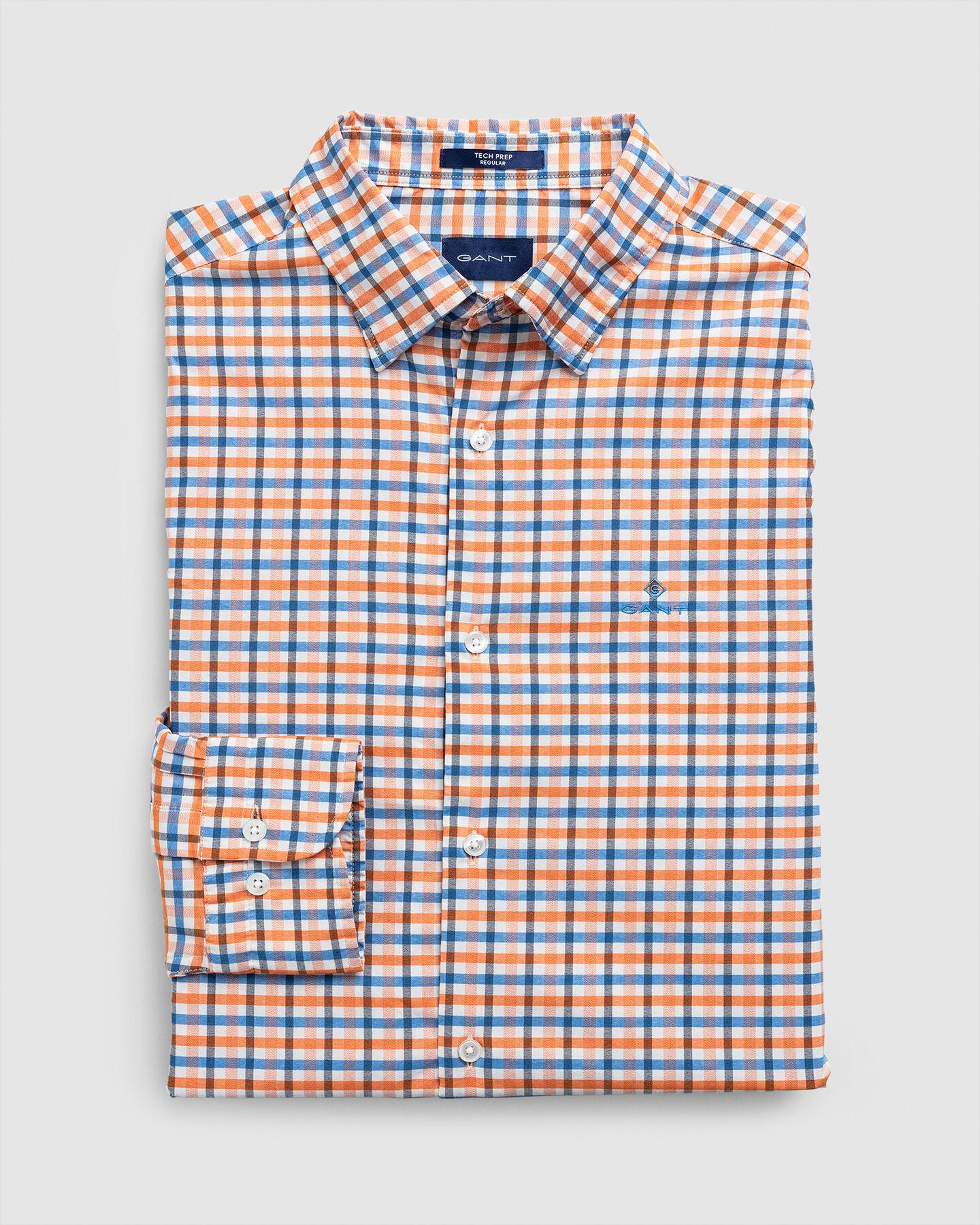 Regular Tech Prep™ Jaspé Gingham Oxford Hemd