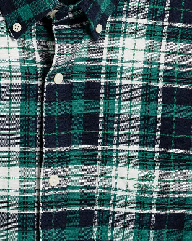 Gekämmtes Regular Fit Tartan Oxford-Hemd