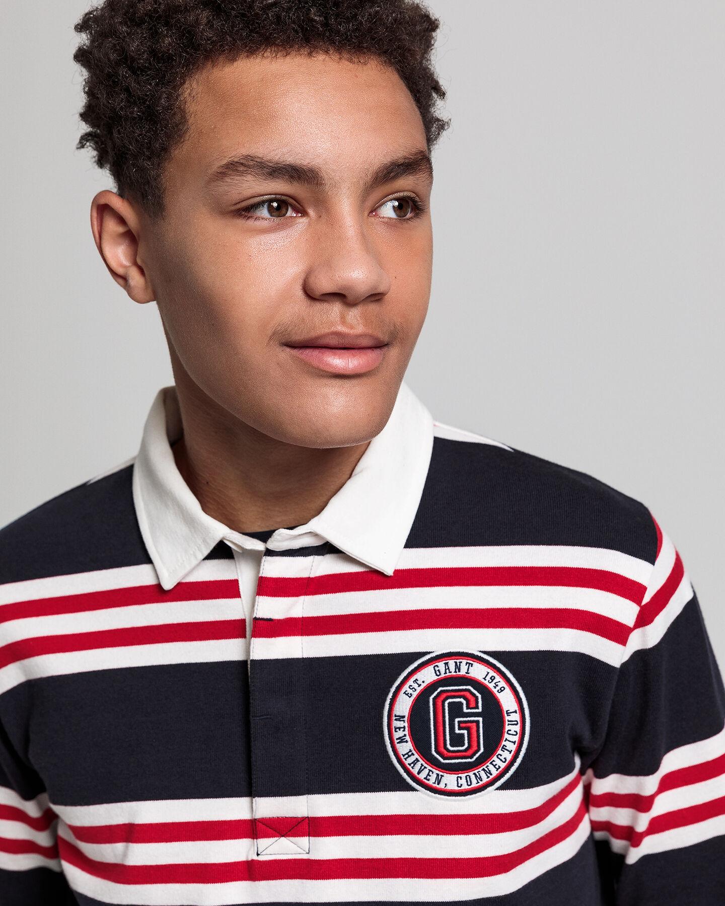 Teen Boys GANT Varsity Heavy Rugger mit Streifen